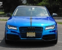 Designer Wraps Blue Chrome Audi A7