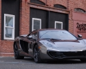 Designer Wraps Black Chrome McLaren MP4-12C