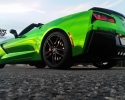 Designer Wraps Chrome Green Vette