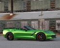 Designer Wraps Chrome Green Corvette Stingray