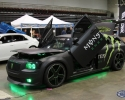 Designer Wraps Matte Black Monster Energy Dodge Magnum