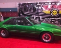 Designer Wraps Hexis Variochrome Green Mustang Drag Car