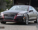 Designer Wraps Matte Black Red Chrome Accents Audi A7 Kevin Jonas