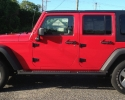 Designer Wraps Avery Gloss Red Jeep Wrangler