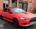 Designer Wraps Avery Matte Red Mitsubishi Lancer