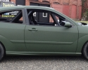 Designer Wraps 3M Matte Military Green Ford Focus Rally Car