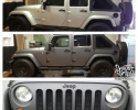 Designer Wraps Matte Dark Grey Jeep Wrangler
