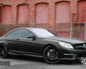 Designer Wraps Hexis Satin Matte Black Mercedes Benz CL63 AMG